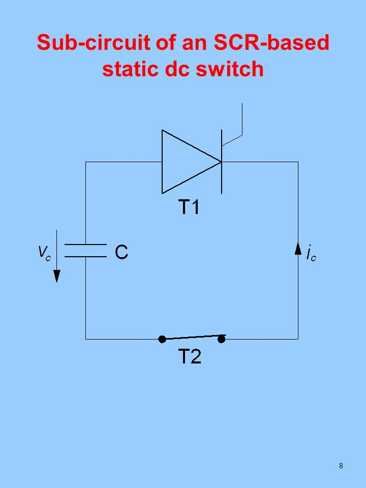 Sub-circuit of an SCR-based static dc switch 8