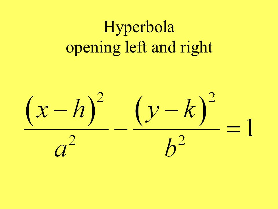 Hyperbola opening left and right