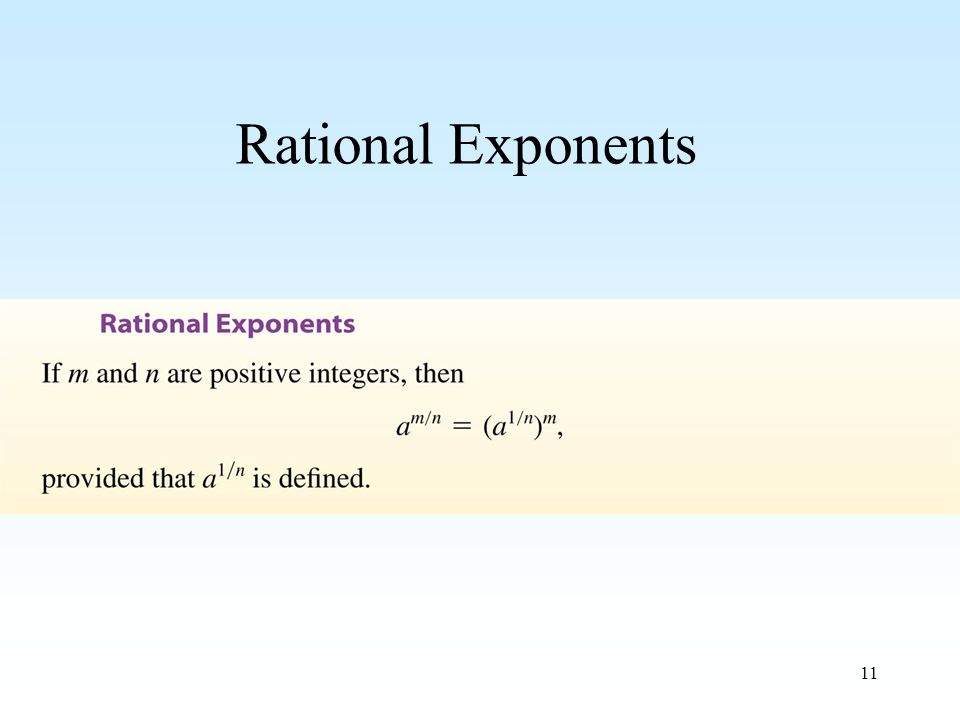 11 Rational Exponents