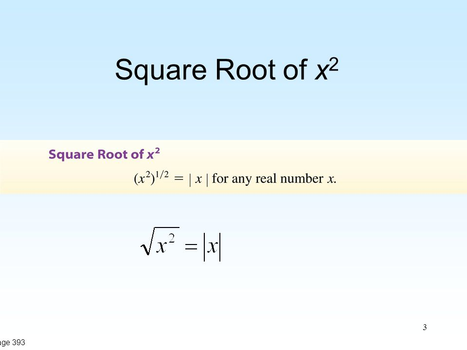 3 Square Root of x 2 Page 393