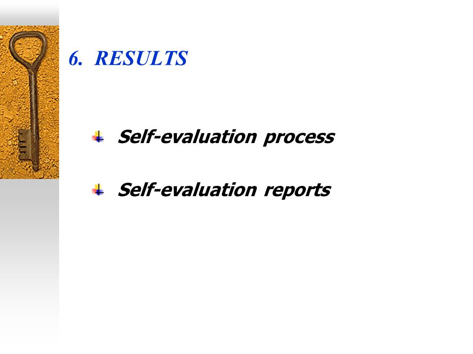 Self-evaluation segments Self-evaluation shall be directed towards monitoring and analysis in several segments, especially towards: the mission and goals of the higher education institution; strategy for achieving the mission; description of the faculty/higher education institution/research institutes, accredited for undertaking higher education activity; study program and subject courses; teaching staff and assistants; teaching and learning activity; students; facilities and material conditions (resources); logistics; external co-operation; scientific research activity; financing.
