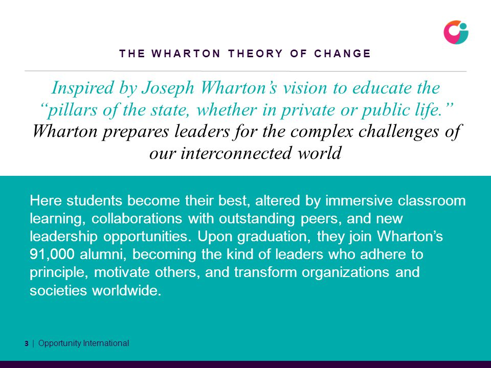 Inspired by Joseph Wharton's vision to educate the pillars of the state, whether in private or public life. Wharton prepares leaders for the complex challenges of our interconnected world Here students become their best, altered by immersive classroom learning, collaborations with outstanding peers, and new leadership opportunities.