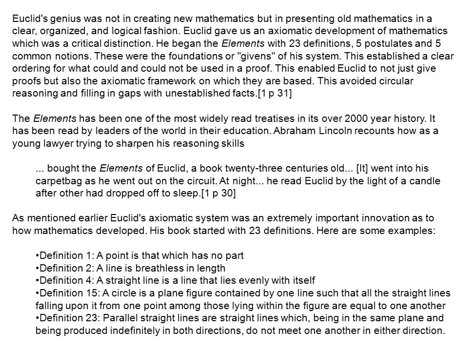 Euclid of Alexandria Born: ~ 325 BC Died: ~ 265 BC  - ppt download