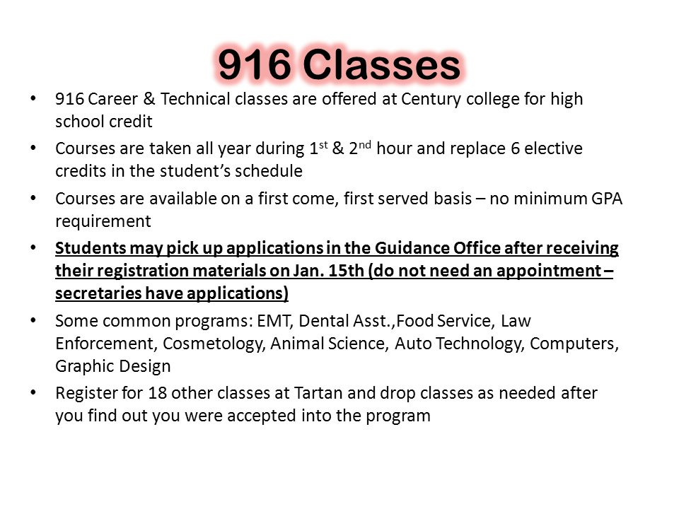 Electives Electives Once you have registered for all required classes, the remainder of the classes you register for are electives Choose electives based on the following criteria: Courses that will help you….