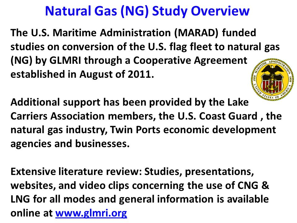 Expanding the Twin Ports Energy Cluster to include LNG and CNG Production and Distribution Dr.