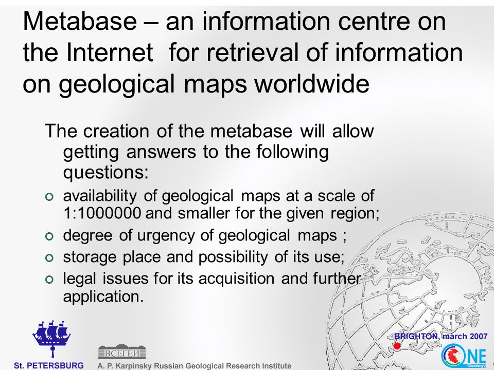Proposal to be considered at the OneGeology Workshop
