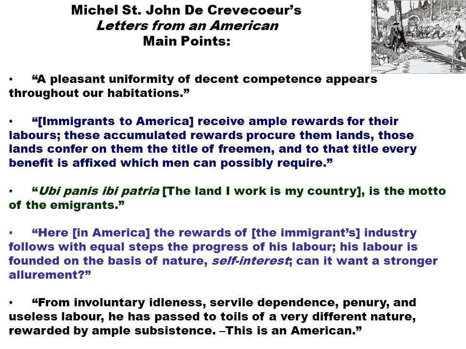 st jean de crevecoeur what is an american