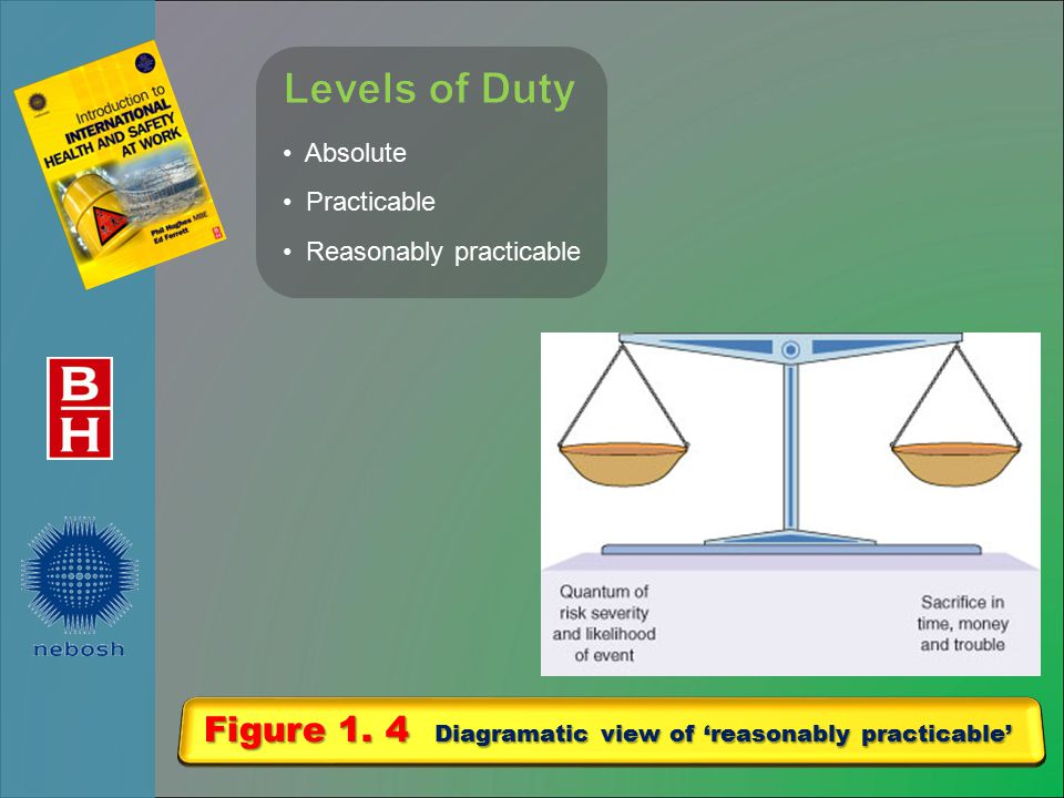 Figure 1. 4 Diagramatic view of 'reasonably practicable'