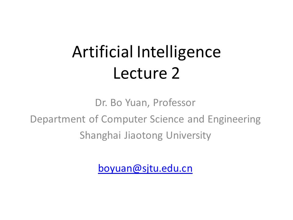 Artificial Intelligence Lecture 2 Dr.