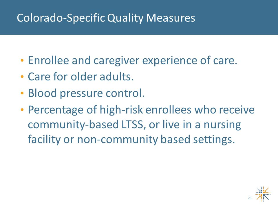 Enrollee and caregiver experience of care. Care for older adults.