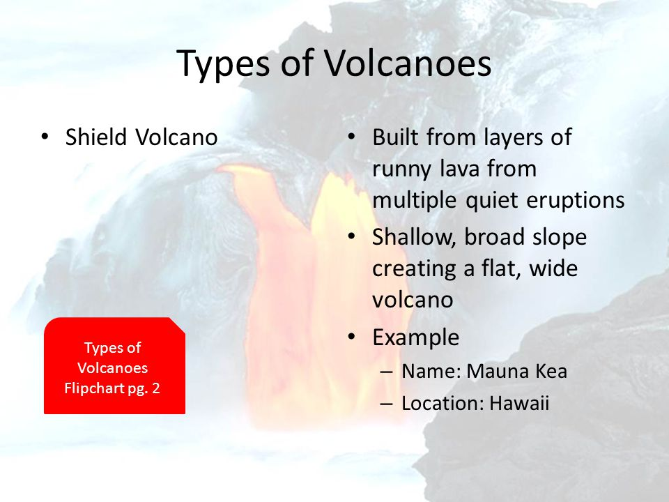 Intro Objective 19 November 2012 Pare And Contrast The Three. Shield Volcano Built From Layers Of Runny Lava Multiple Quiet Eruptions Shallow Broad Slope. Worksheet. Types Of Volcanoes Worksheet At Mspartners.co