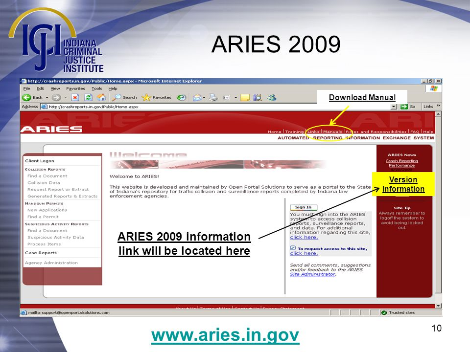 1 ARIES 2009 ARIES 2009 OVERVIEW  ARIES 2009 Welcome to the