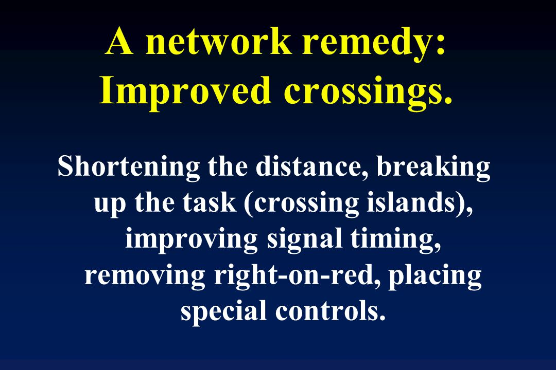 A network remedy: Improved crossings.