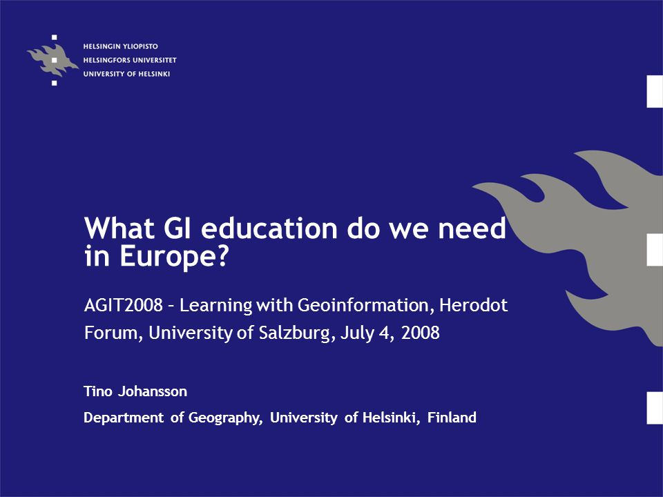 What GI education do we need in Europe.