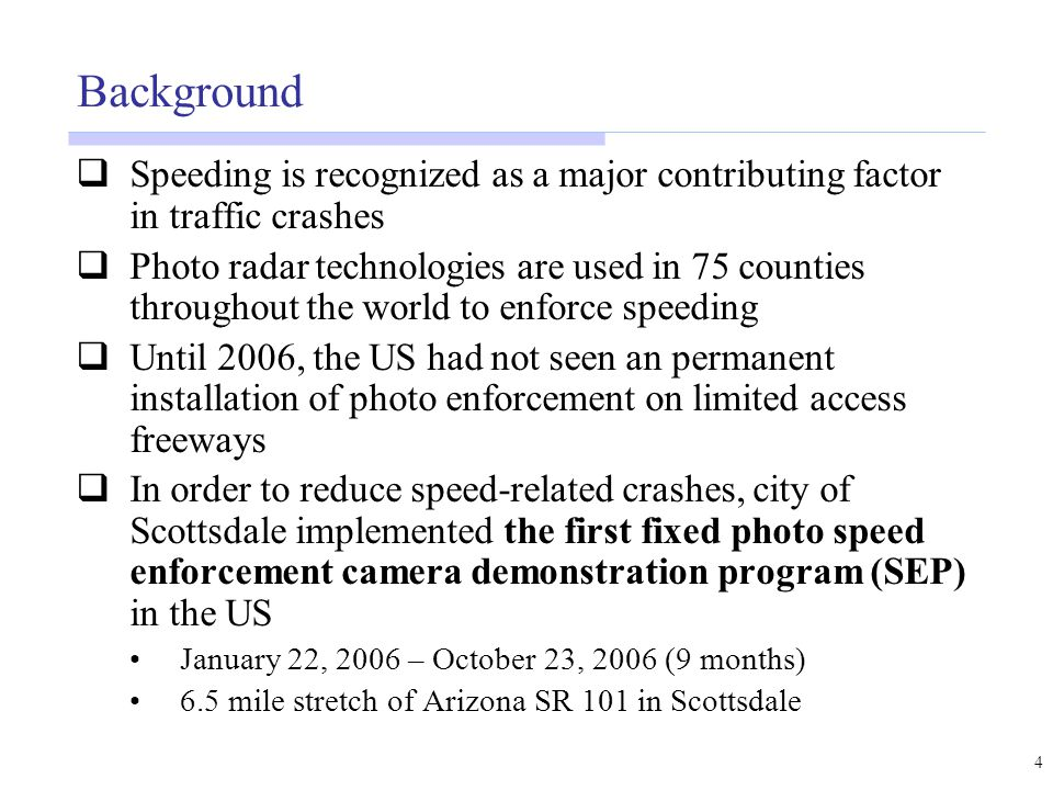 Evaluation of Scottsdale 101 Photo Enforcement Demonstration