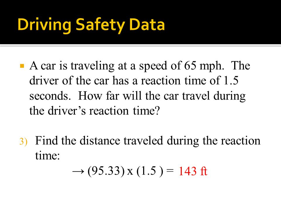  A car is traveling at a speed of 65 mph.