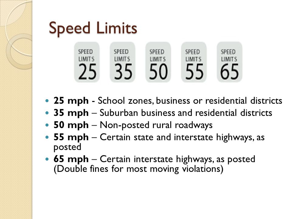 Always slow down: On narrow or winding roads At intersections or railroad crossings On hills At sharp or blind curves Where there are pedestrians or driving hazards When the road is wet or slippery
