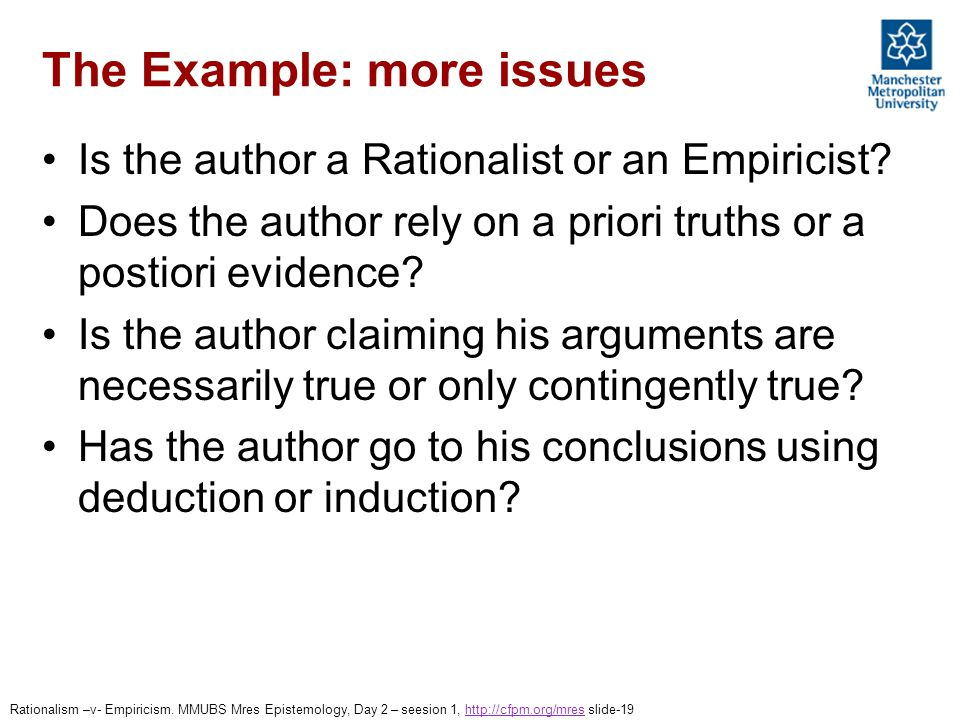 Rationalism V Empiricism From Where Does Knowledge Come Mres