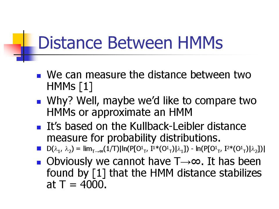 Distance Between HMMs