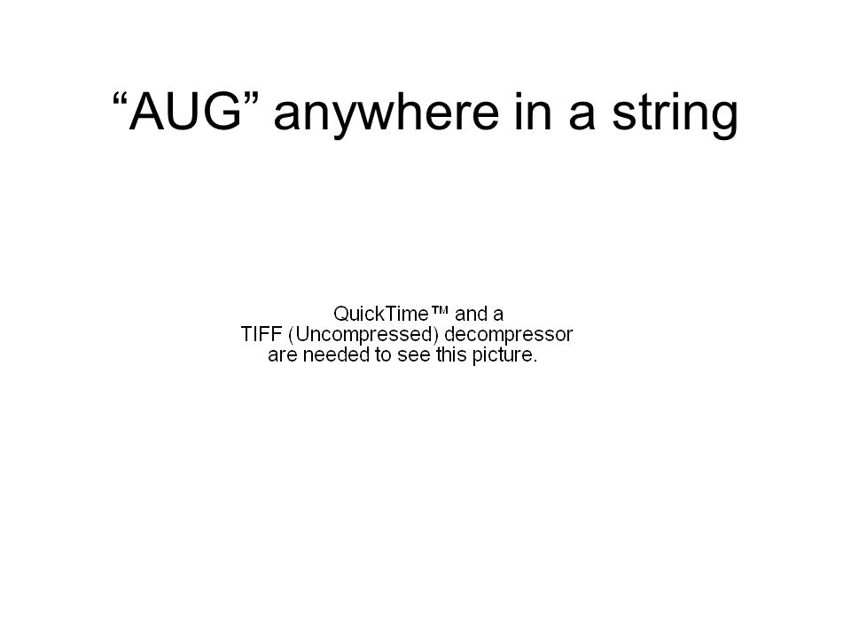 AUG anywhere in a string