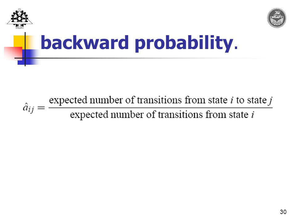 30 backward probability.