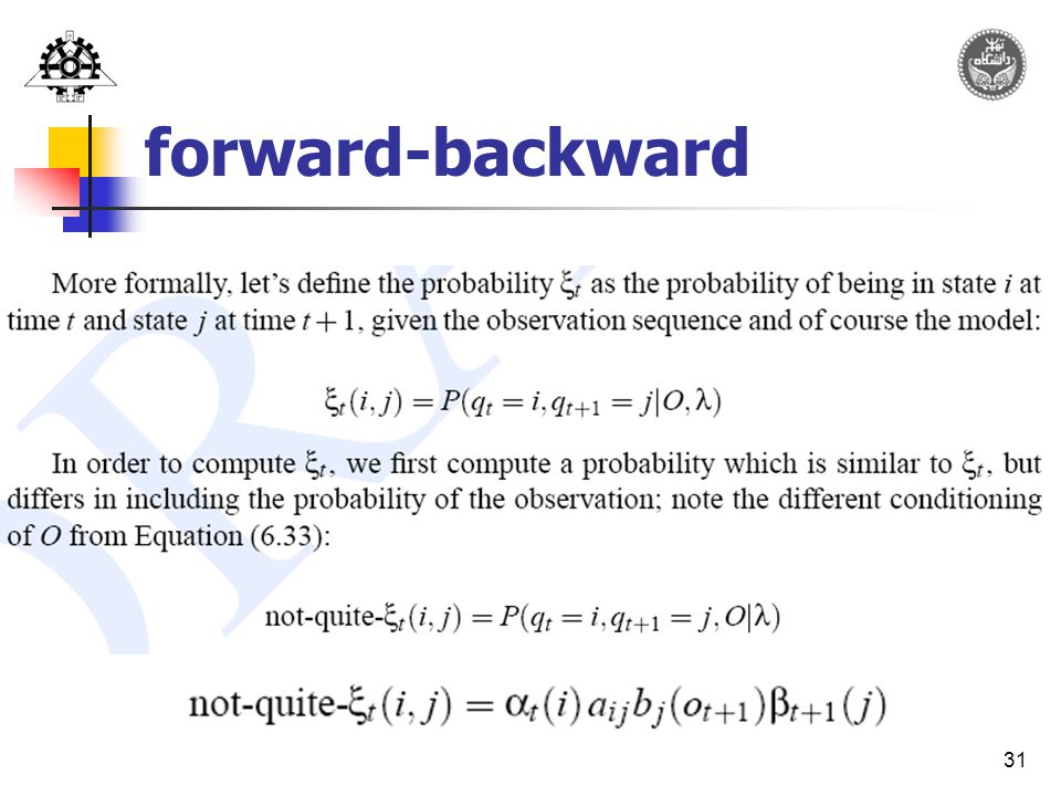 31 forward-backward