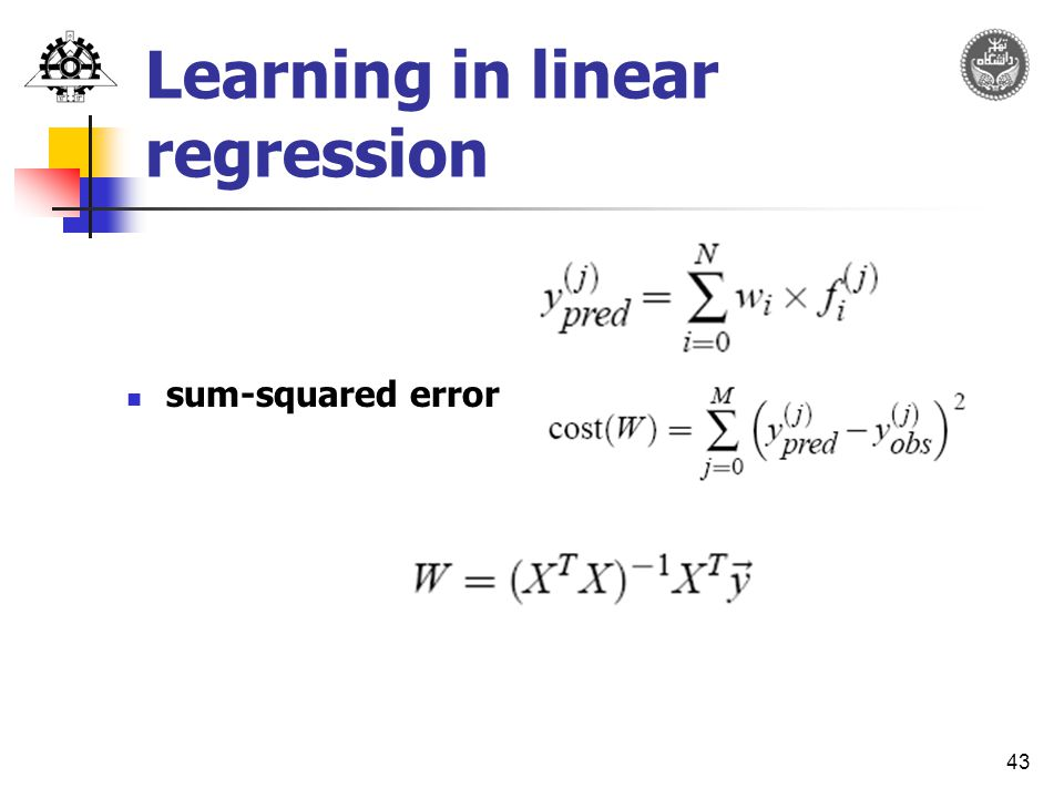 43 Learning in linear regression sum-squared error