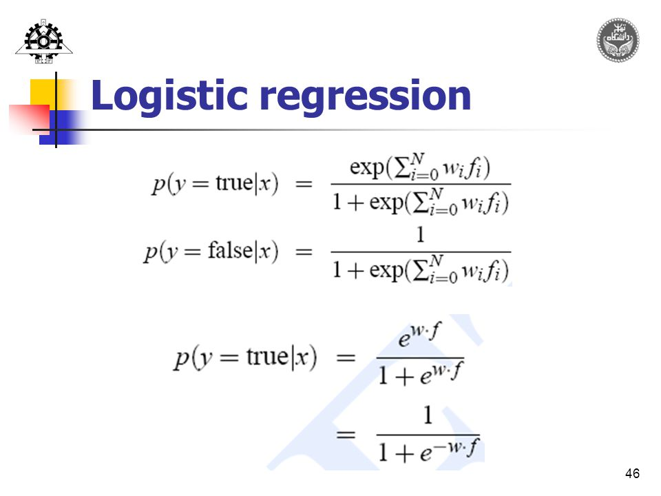 46 Logistic regression