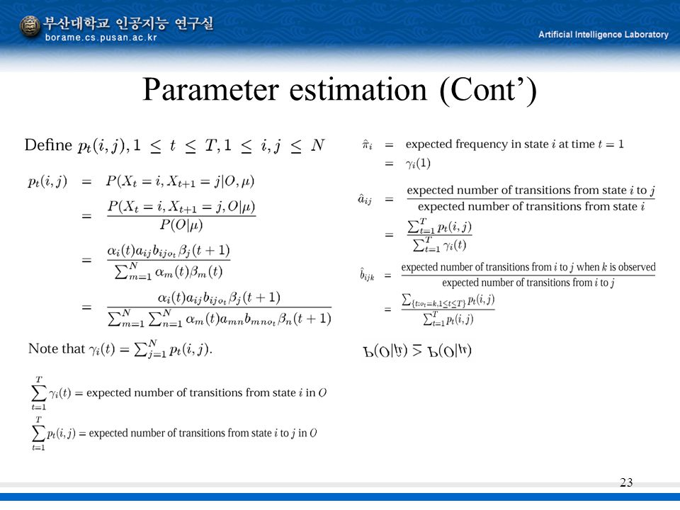 23 Parameter estimation (Cont')