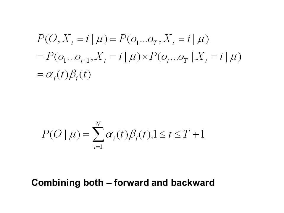 Combining both – forward and backward