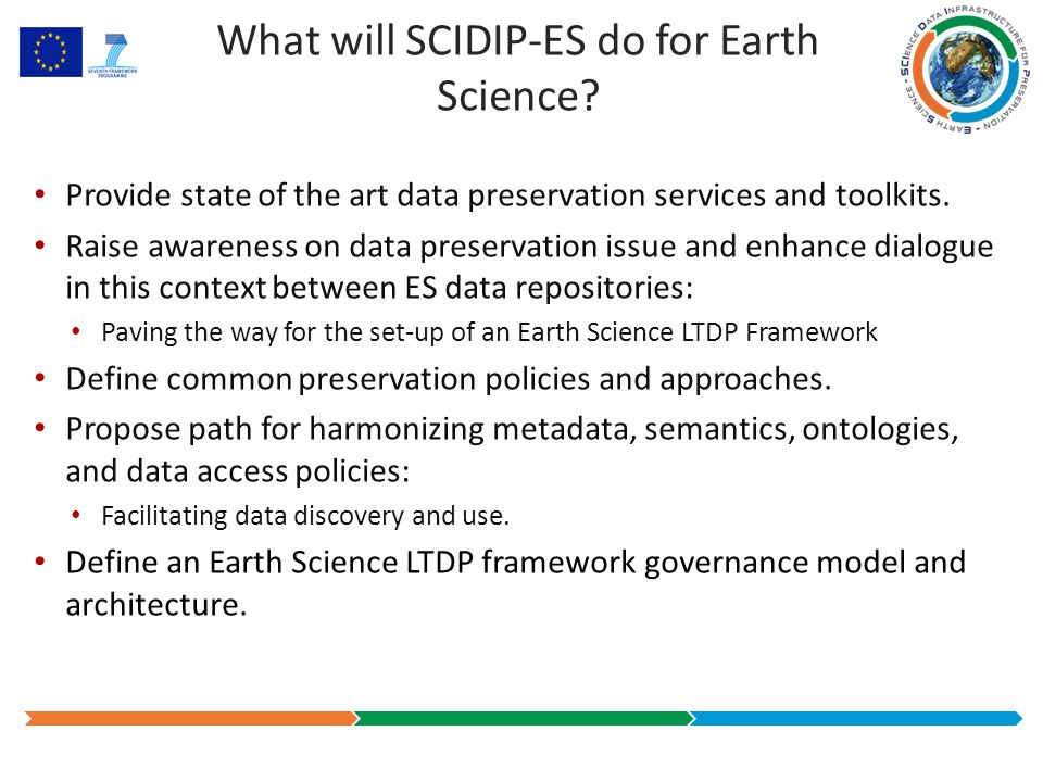 What will SCIDIP-ES do for Earth Science.