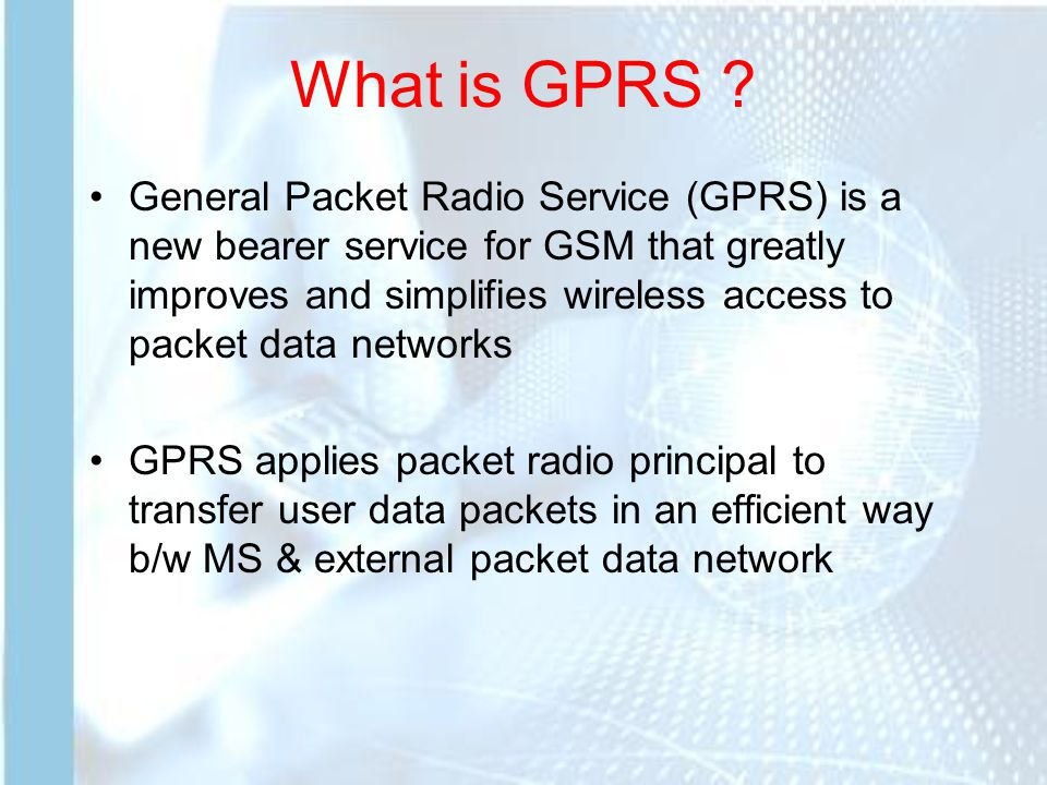 What is GPRS .