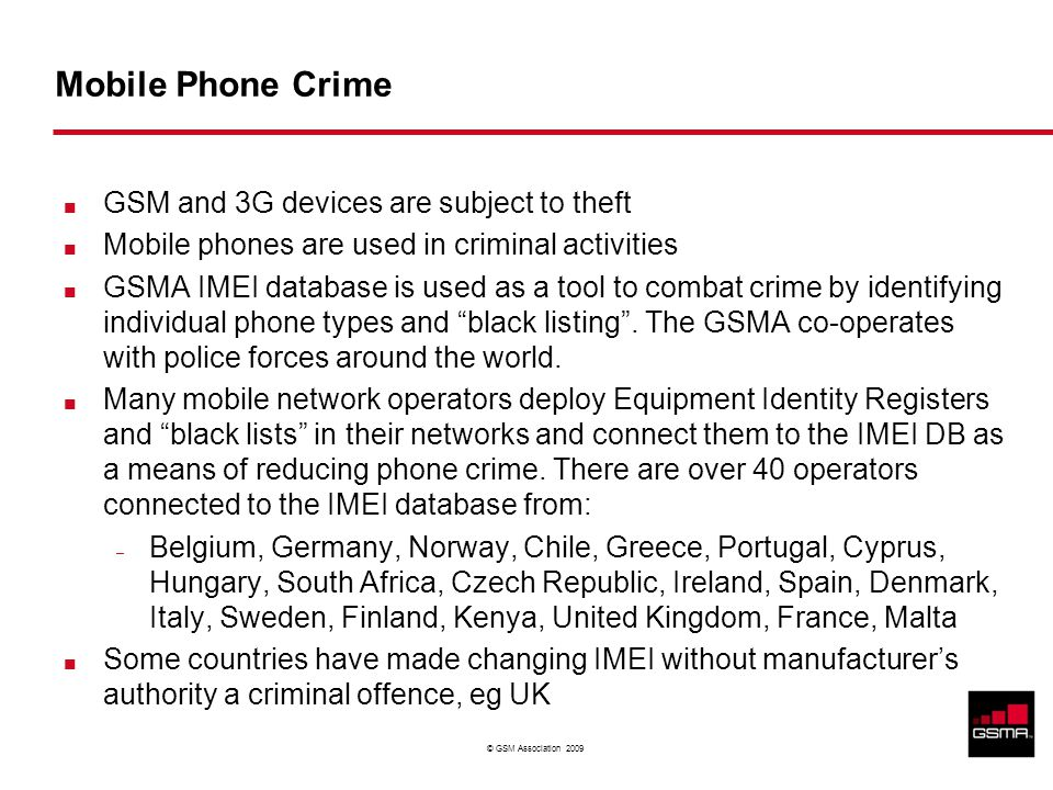 Restricted - Confidential Information © GSM Association 2009