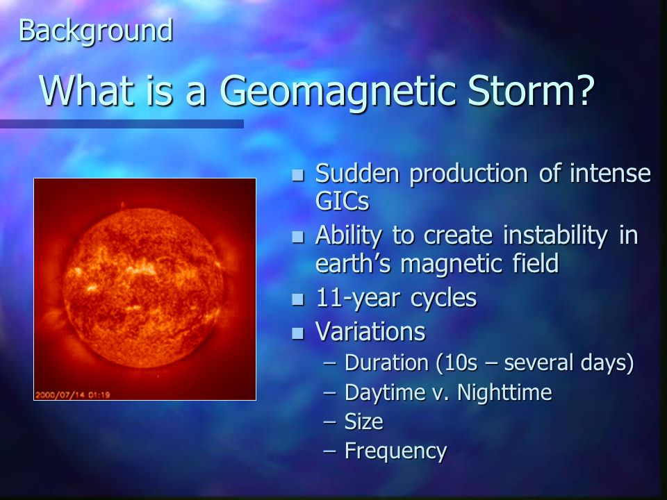 What is a Geomagnetic Storm.