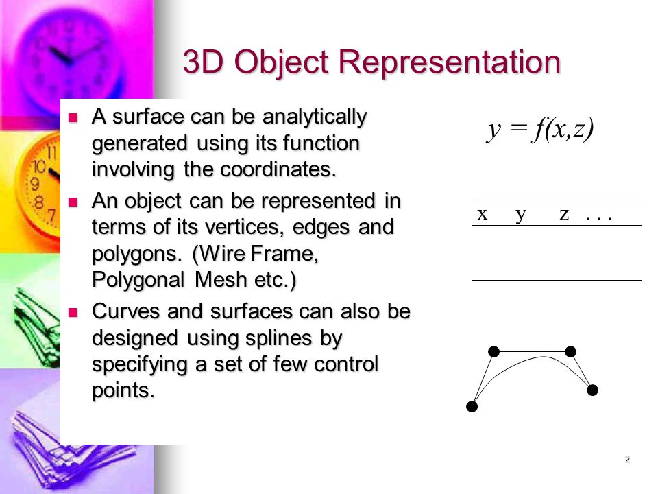 1 Computer Graphics Chapter 7 3D Object Modeling. - ppt download