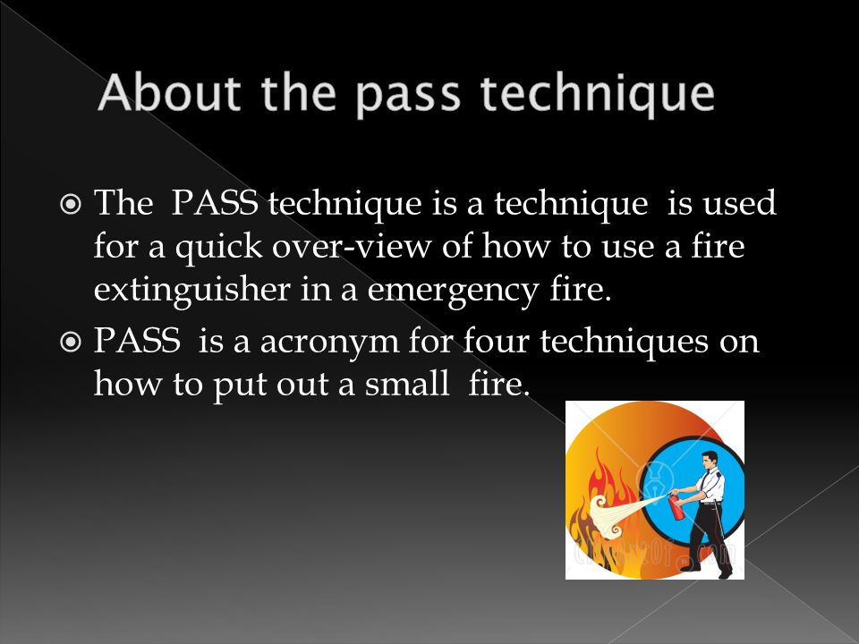 the pass technique is a technique is used for a quick over view of