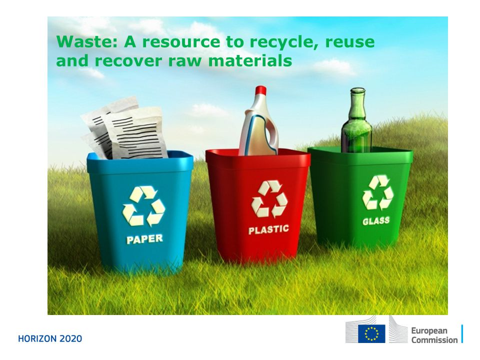 Waste: A resource to recycle, reuse and recover raw materials