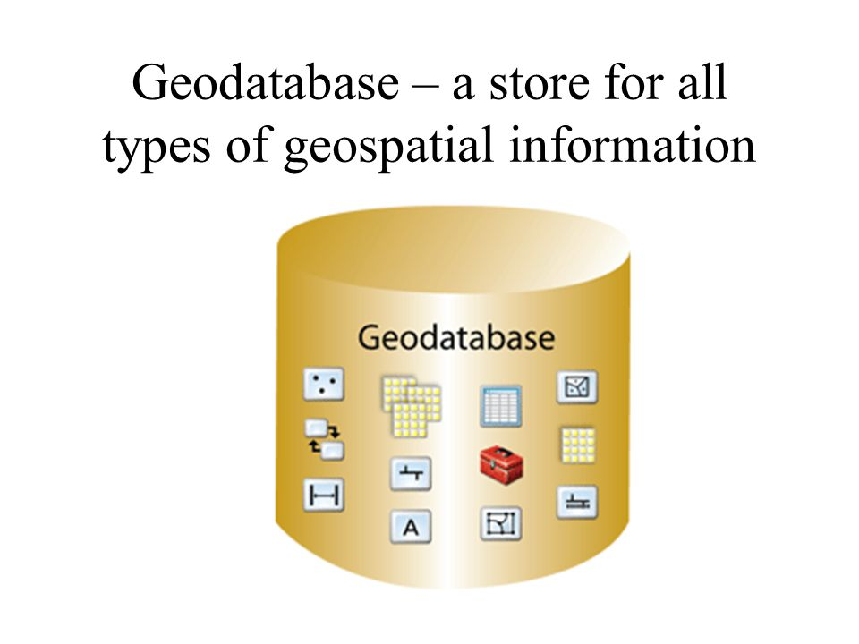 Geodatabase – a store for all types of geospatial information