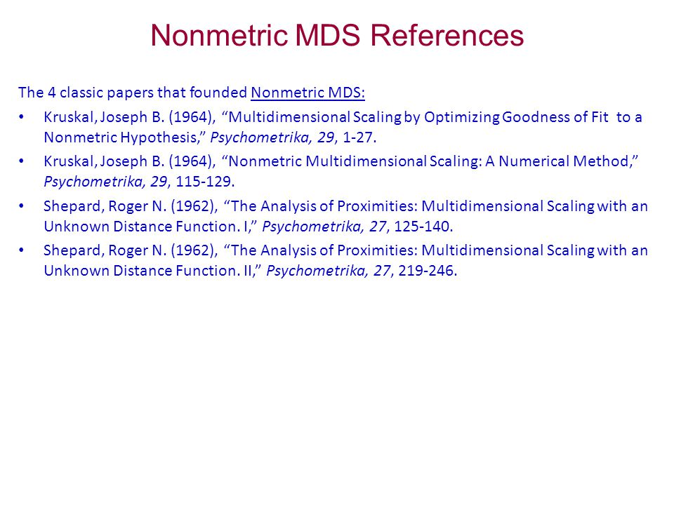multidimensional scaling young forrest w young forrest w hamer robert m hamer robert m