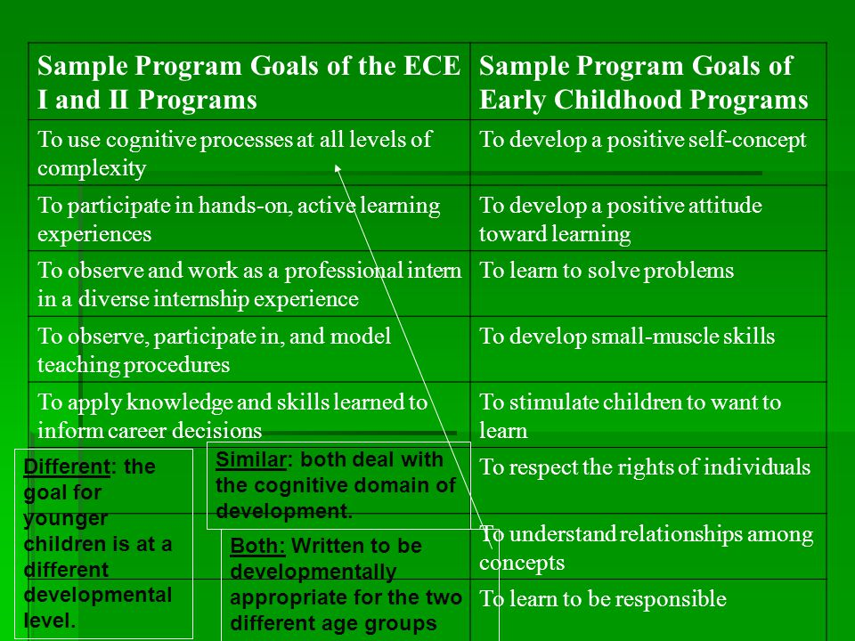 Ece Ii 101 Programs Program Goals Review In Review 1 Name One