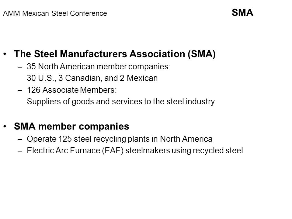 AMM Mexican Steel Conference Monterrey, Mexico January 29
