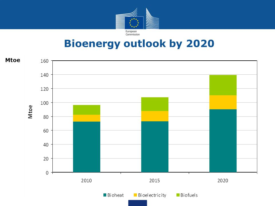 Biomass Wind Hydro Bioenergy outlook by 2020 Mtoe