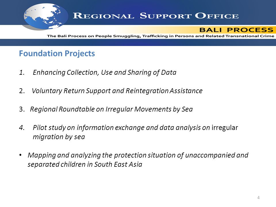 Foundation Projects 1.Enhancing Collection, Use and Sharing of Data 2.