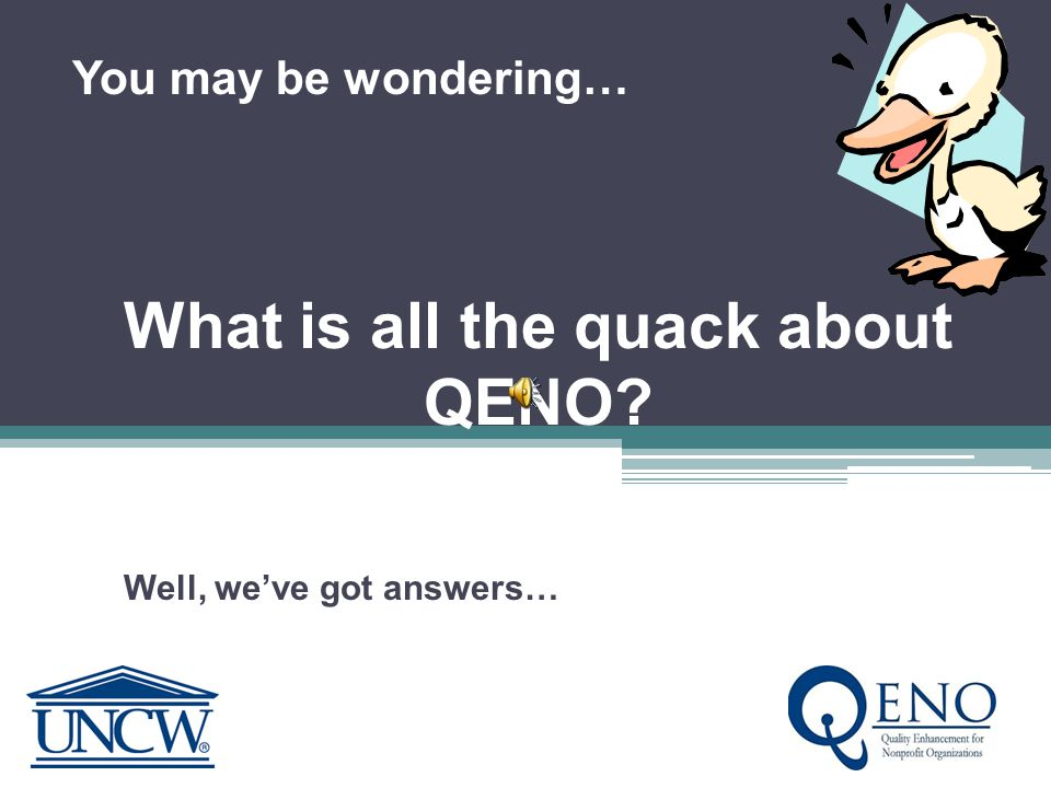 QENO is a partnership UNCW NonprofitsFunders