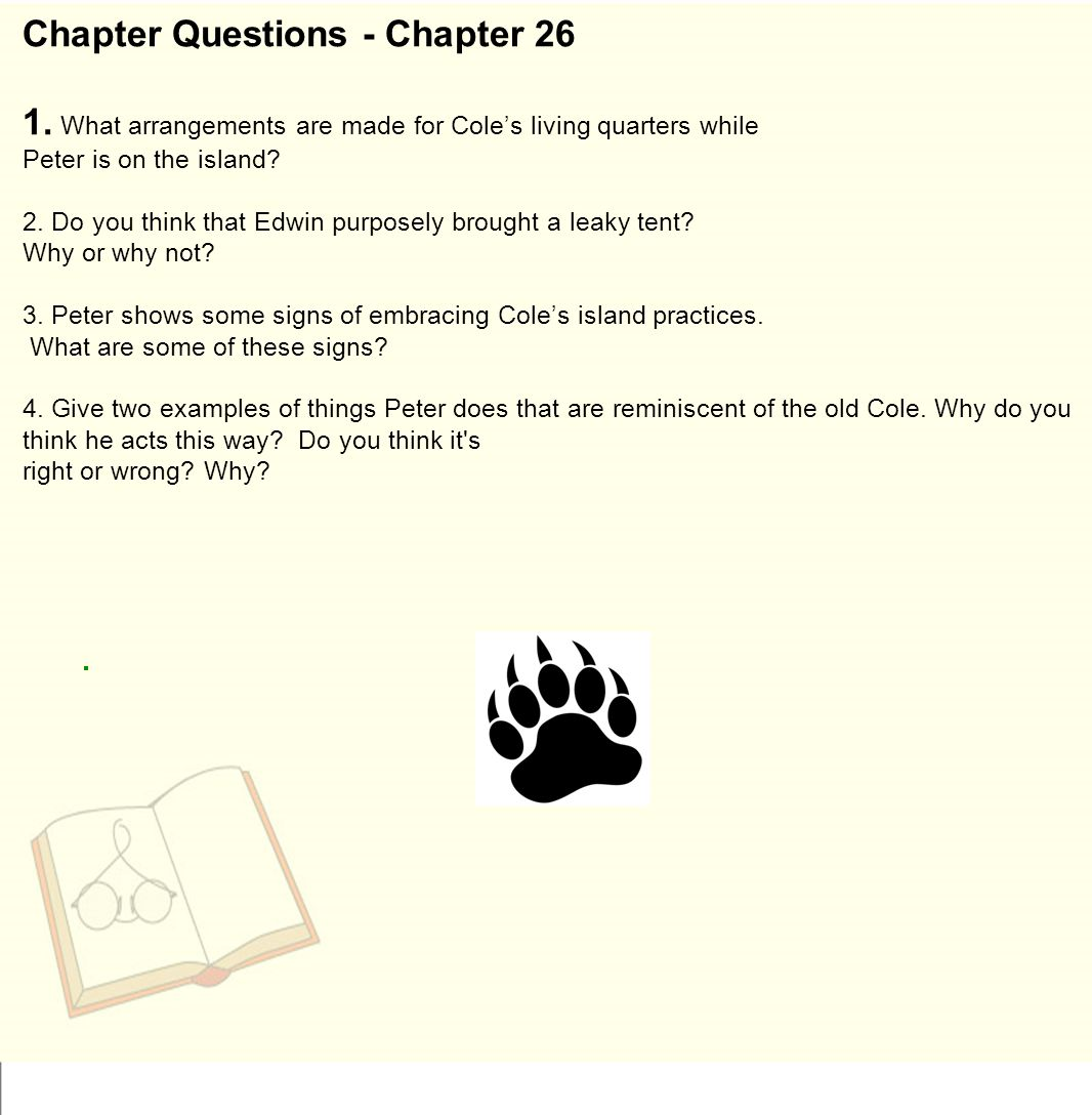 Chapter Questions - Chapter 26 1.