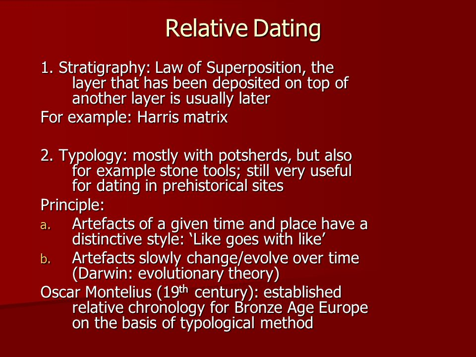 Difference between relative and absolute dating in archaeology
