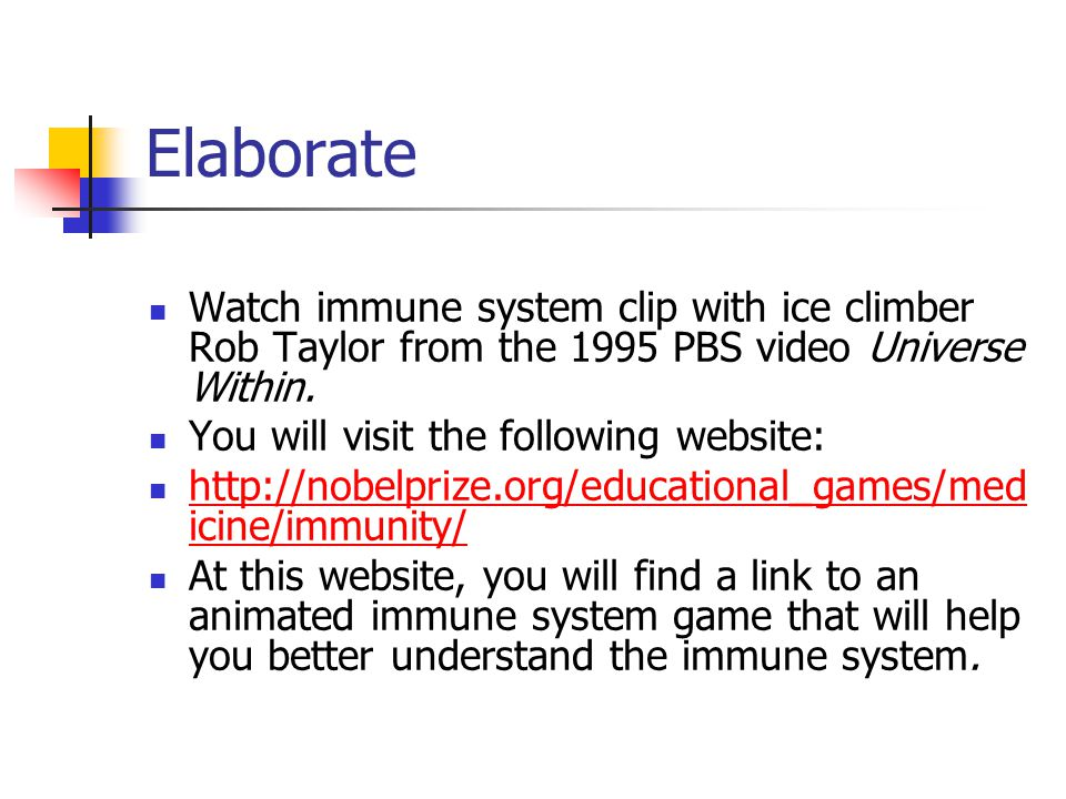 Elaborate Watch immune system clip with ice climber Rob Taylor from the 1995 PBS video Universe Within.