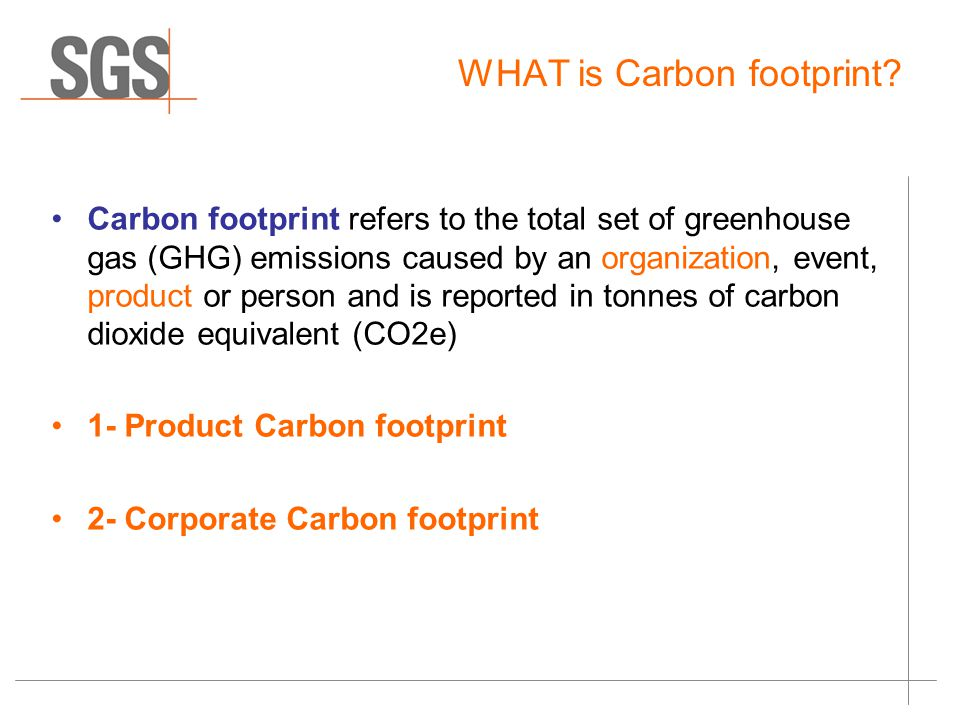 WHAT is Carbon footprint.