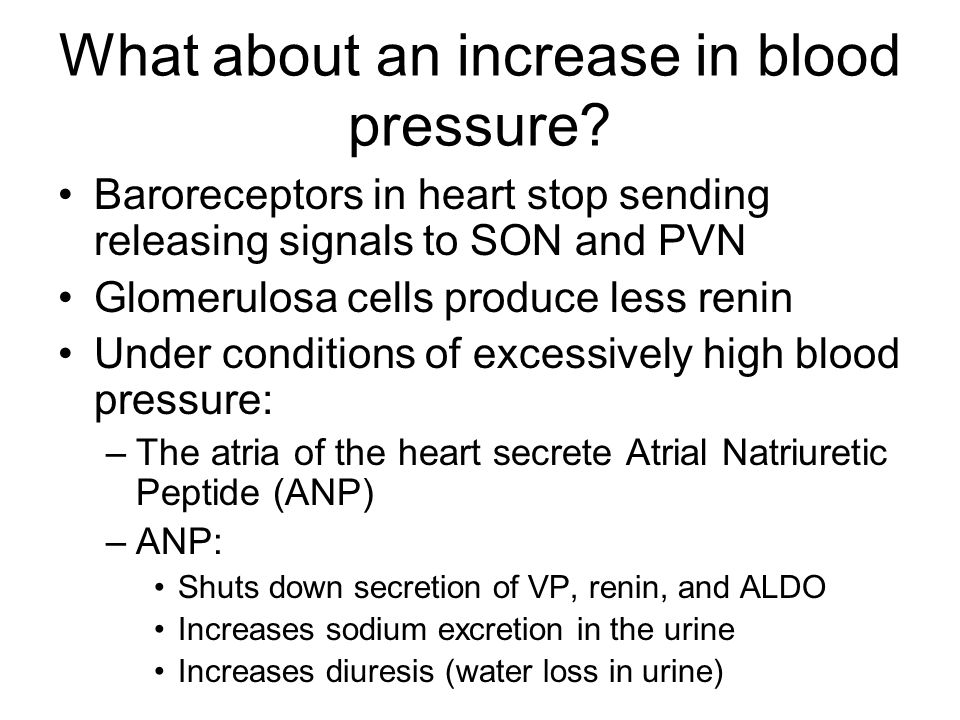 What about an increase in blood pressure.