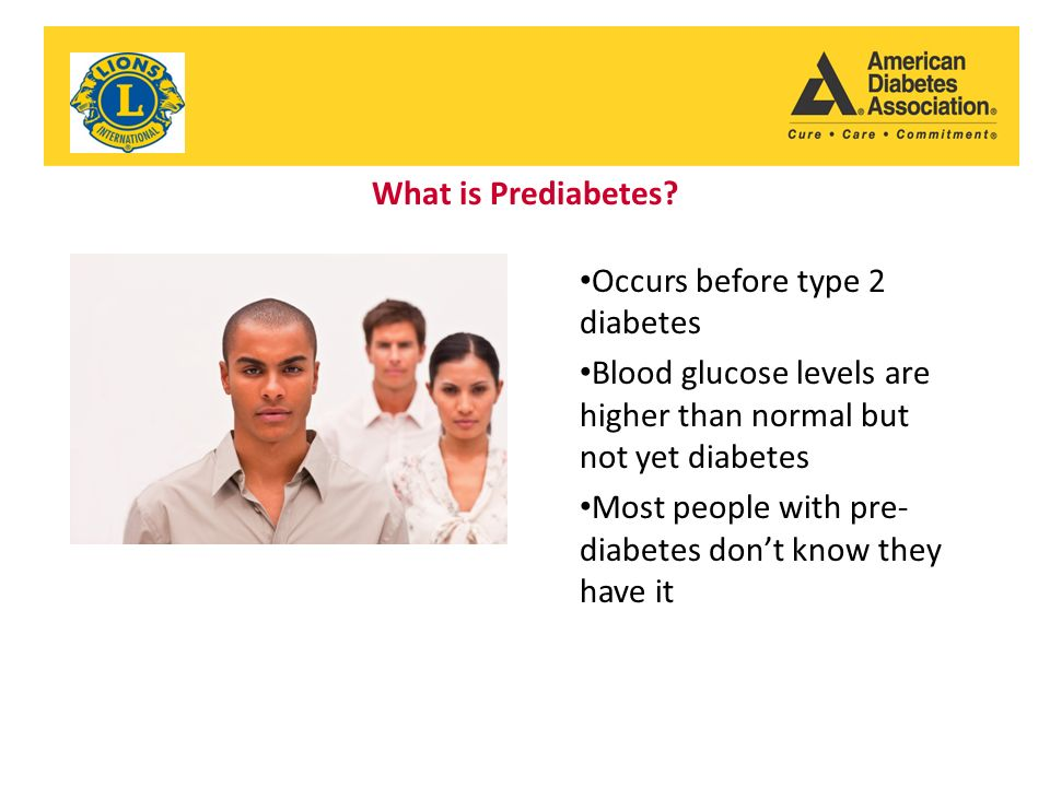What is Prediabetes.